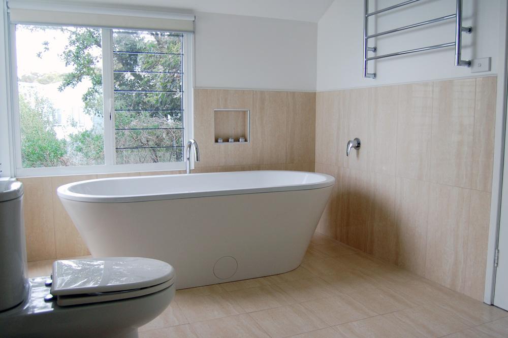 New 90 bathroom renovations central coast design for Custom bathroom renovations